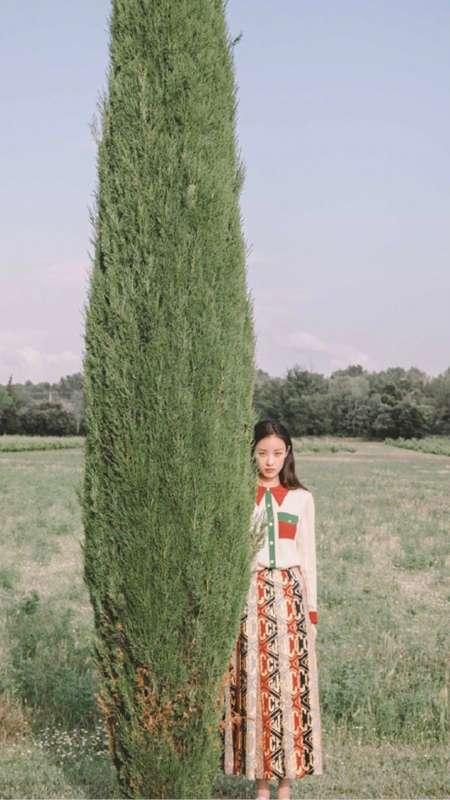 气质时尚美女倪妮田园风写真手机壁纸