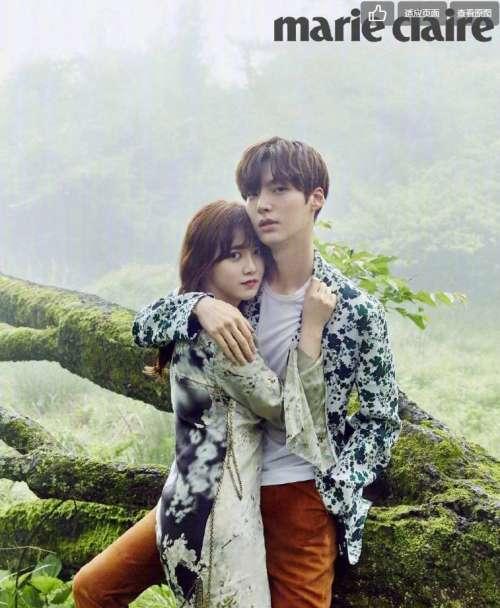 韩国美女具惠善和老公安宰贤杂志封面图片