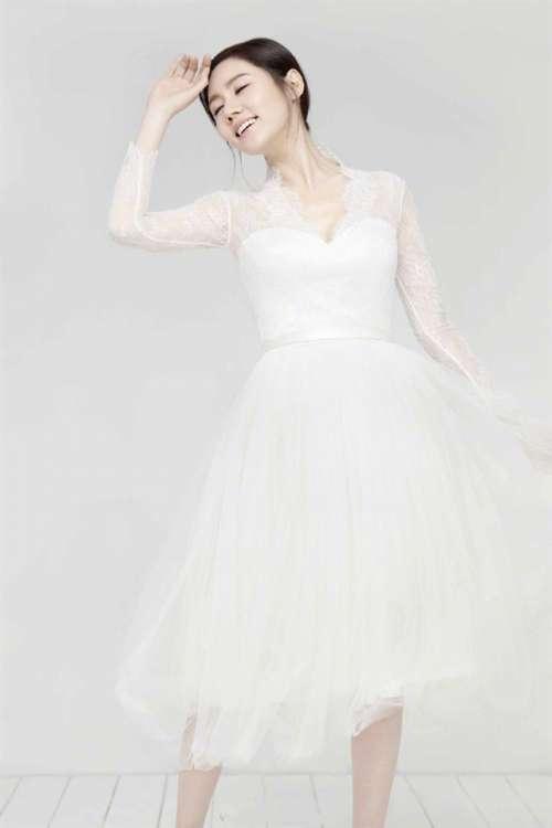 韩国美女秋瓷炫婚纱写真手机壁纸大全