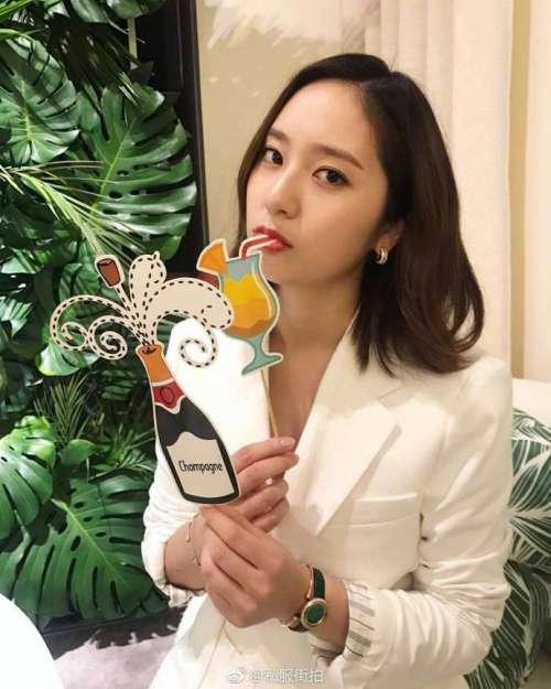 韩国美女明星郑秀晶台北出席Piaget伯爵品牌活动