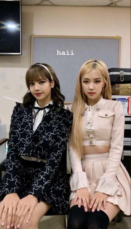 韩国女团BLACKPIN成员Lisa x rosé朴彩英姐妹图片