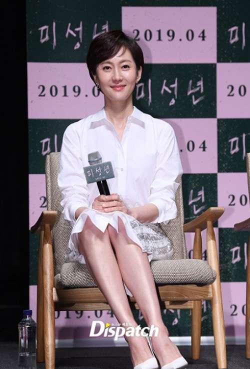 韩国美女明星廉晶雅电影《未成年》首尔举行制