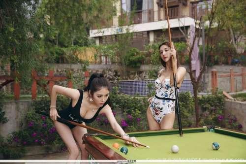 模特合集伊莉娜与芊惠连体比基尼泳装性感私房经典图集