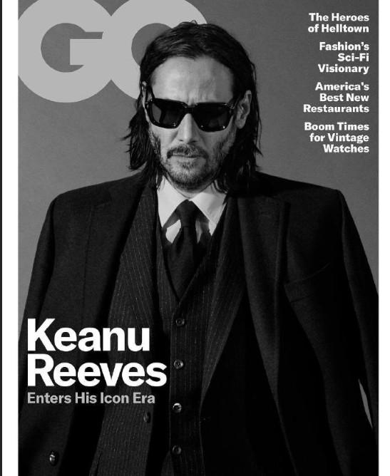 欧美男星基努·里维斯《GQ》新刊封面图片
