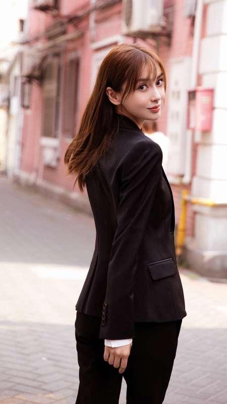 杨颖清新甜美写真图片手机壁纸