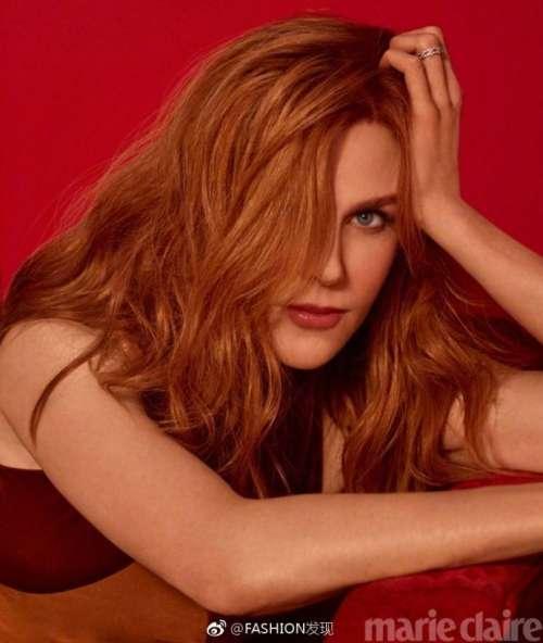 欧美美女明星妮可基德曼《Marie Claire》性感封面