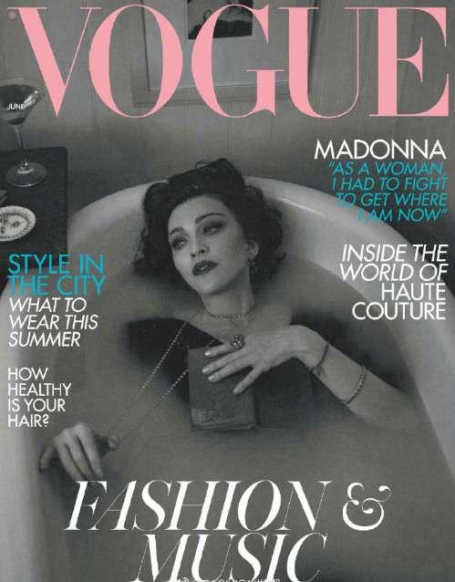 欧美美女歌手麦当娜《VOGUE》六月刊图片