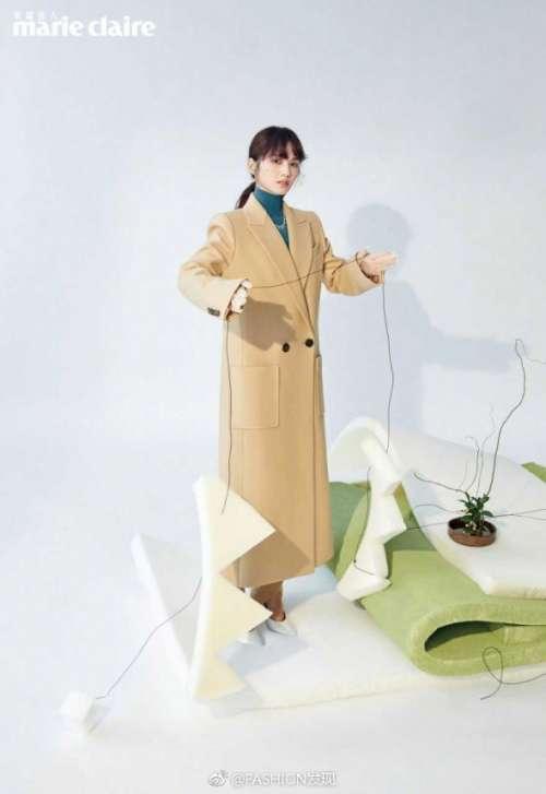 台湾美女明星杨丞琳《Marie Claire》成熟知性封面