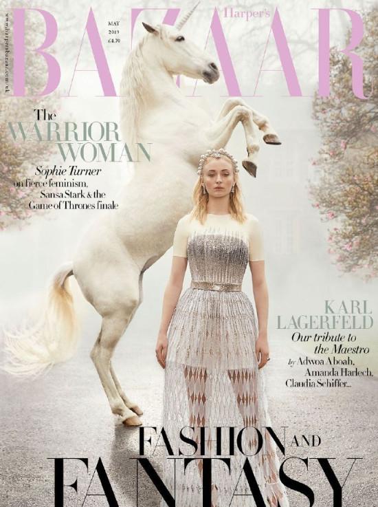 欧美美女明星Sophie为英国BAZAAR杂志梦幻大片图片