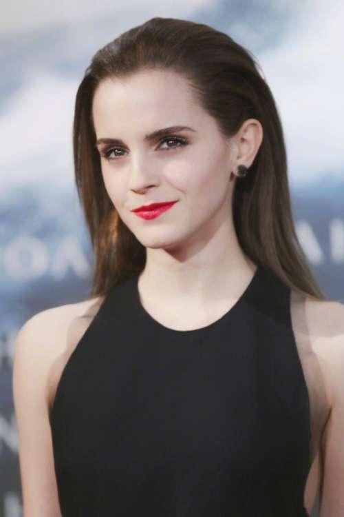 欧美美女明星Emma watson艾玛·沃特森红唇妆容美图