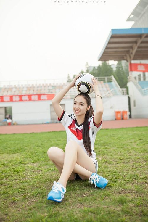 清纯美女校花世界杯足球宝贝写真