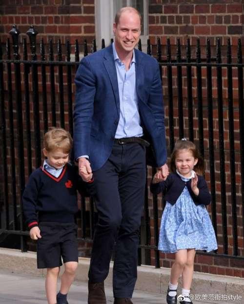 英国小公主夏洛特和哥哥乔治一脸乖萌图片