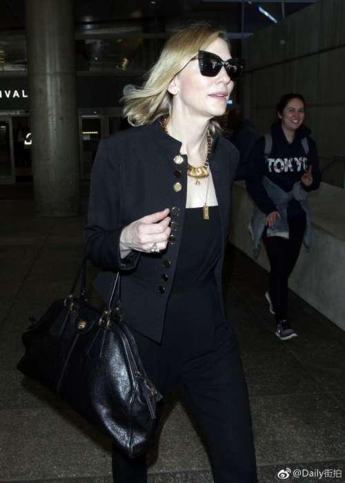欧美美女明星Cate Blanchett凯特·布兰切特现身洛杉