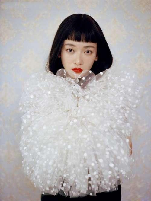 亚洲美女明星齐刘海发型图片