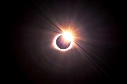 自然风景图片 日食图片