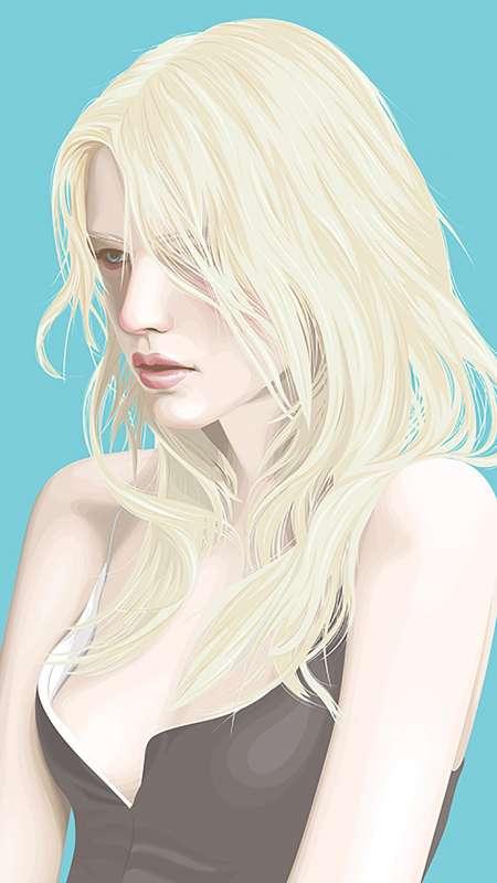 欧美美女手绘手机高清壁纸