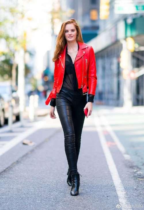 欧美美女英国超模Alexina Graham纽约出街街拍图片
