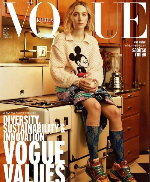 欧洲美女明星西尔莎·罗南《VOGUE》封面图片