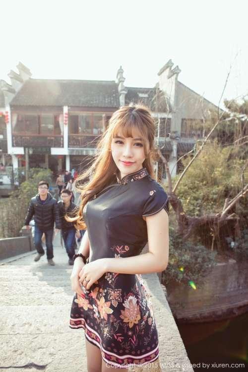 中国风美女IMISSI爱蜜社田老师旗袍写真