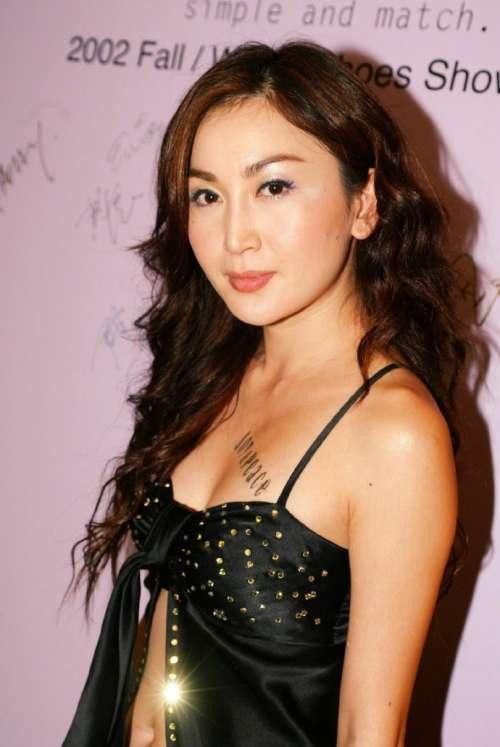香港美女明星年轻时的温碧霞图片
