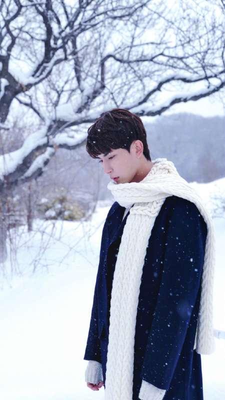 于朦胧冬季文艺帅气写真图片手机壁纸