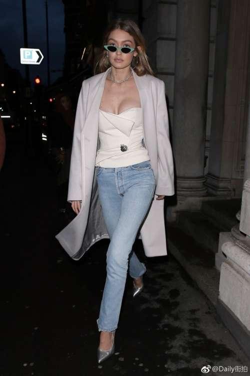 欧美美女模特Gigi Hadid出席美宝莲合作系列GigixM